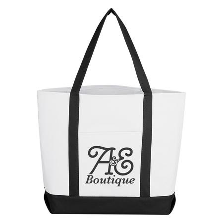 Striped Handle Tote Bag