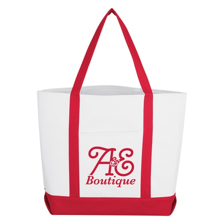 Striped Handle Promotional Tote Bags