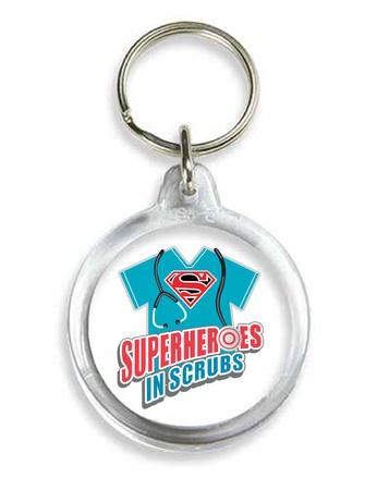 Superheroes in Scrubs Acrylic Key Holders