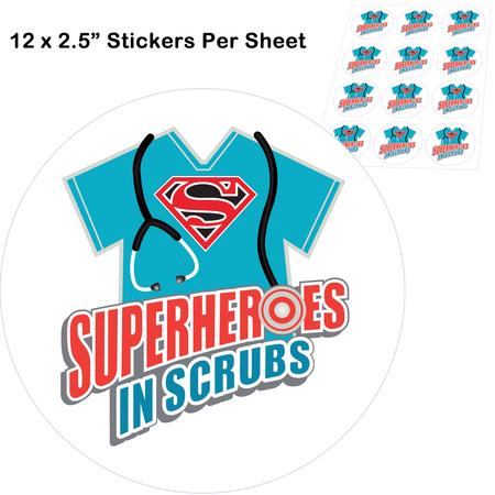 Superheroes In Scrubs Stickers