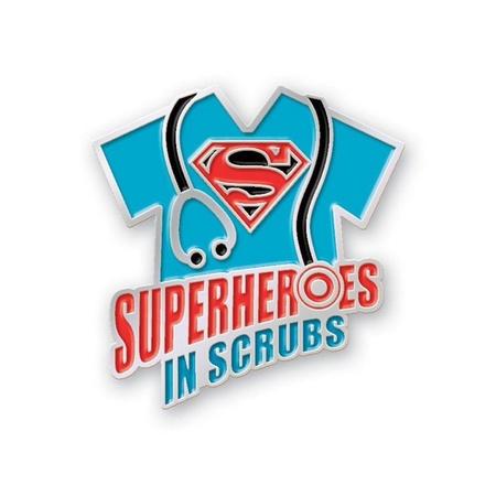 Superheroes In Scrubs Lapel Pin