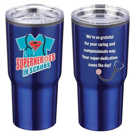 Superheroes in Scrubs Stainless Steel Tumbler
