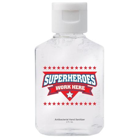 Superheroes Work Here Hand Sanitizer Gift