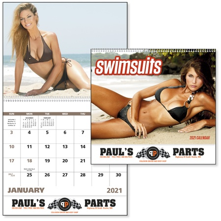 Swimsuits 2021 Promotional Wall Calendars