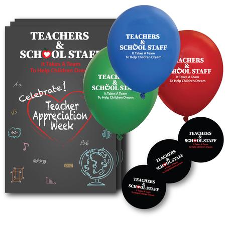 Teacher Appreciation Decoration & Celebration Pack