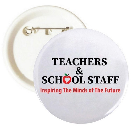 Teacher & School Staff Appreciation Buttons