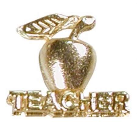 Teacher's Apple Lapel Pin