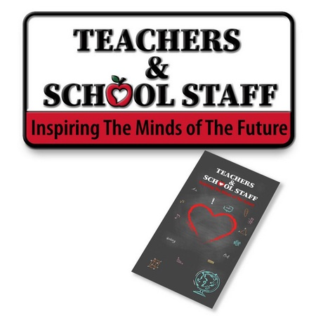 Teachers Lapel Pin with Gift Card