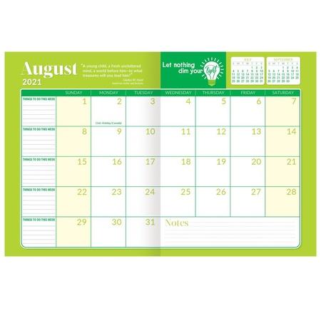 Teachers & School Staff 2020-2021 Academic Monthly Desk Planner