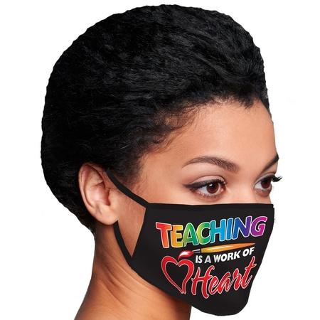 Teaching Is A Work of Heart Face Masks