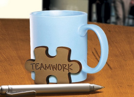 Teamwork Chocolate Puzzle Pieces
