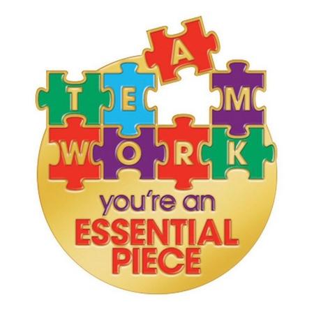 Teamwork Puzzle Piece Lapel Pin