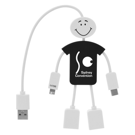 Tech Guy 3-in-1 Charging & USB Personalized Gift