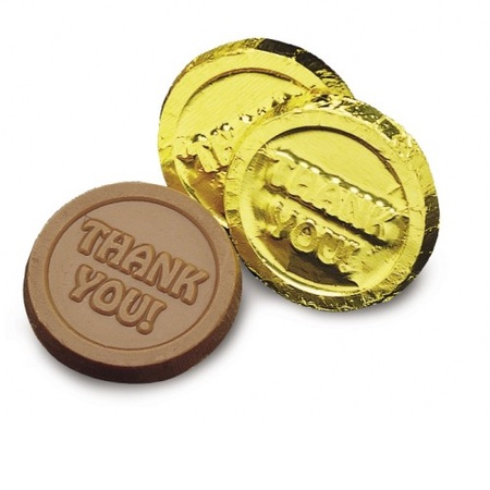 Thank You Chocolate Gold Coins