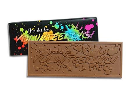 Thanks for Volunteering Chocolate Bars