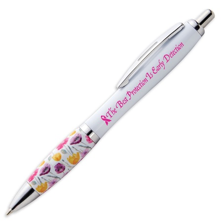 The Best Protection Is Early Detection Floral Grip Pen