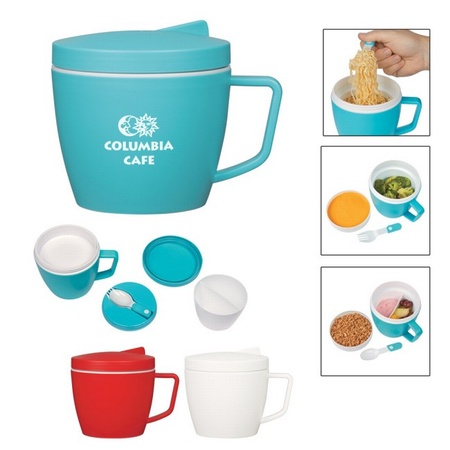 Thermal Mug with Spoon & Fork Set