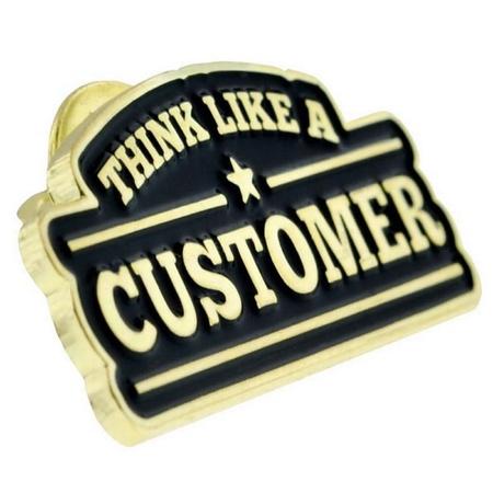 Think Like A Customer Lapel Pin