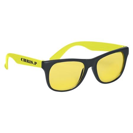 Tinted Lenses Rubberized Sunglasses