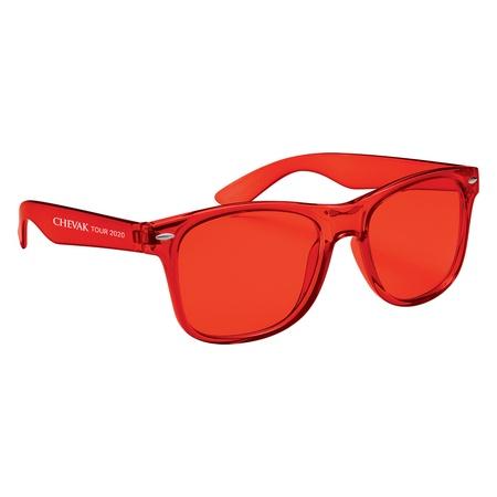 Translucent Malibu Sunglasses with Imprint
