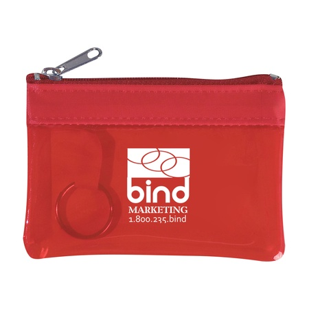 Translucent Zippered Promotional Coin Pouch