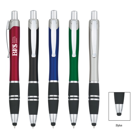 Custom Tri-Band Promo Pen With Stylus