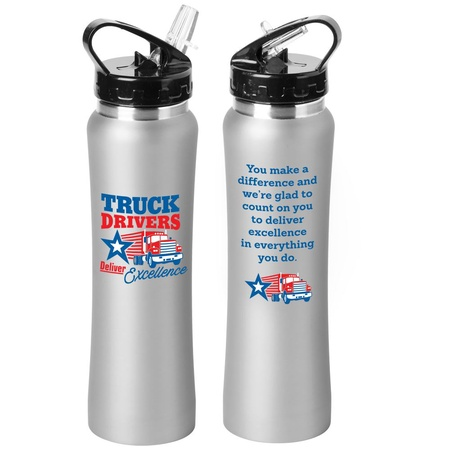 Truck Driver Appreciation Stainless Steel Bottle