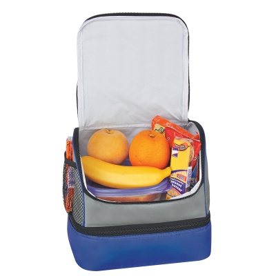 Custom Two Compartment Lunch Pail Bag