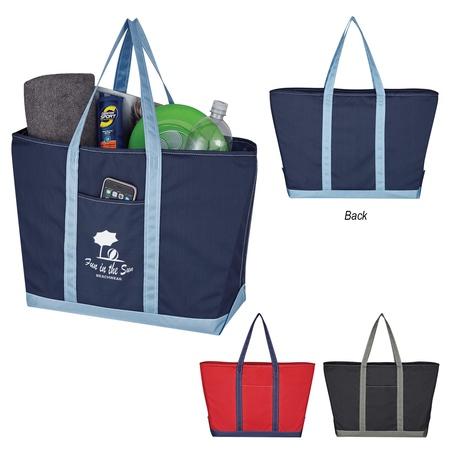 Custom Two-Tone Mondo Tote Bags