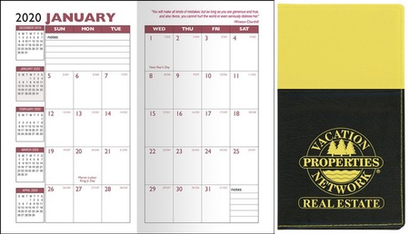 Two-Tone Soft Cover Monthly Pocket Planner - 2021