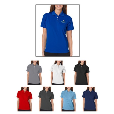 UltraClub Ladies Cool & Dry Stain-Release Polo