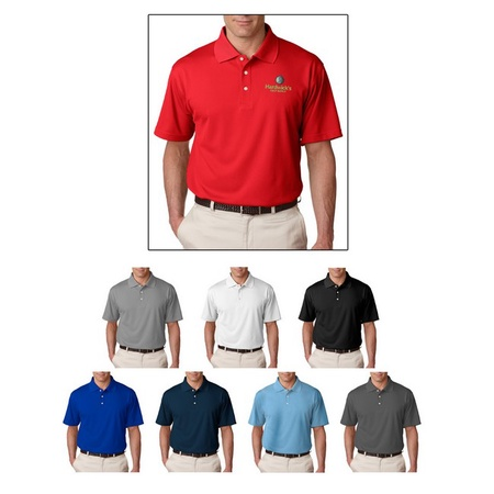 UltraClub Men's Cool & Dry Stain-Release Polo