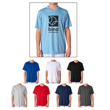 UltraClub Youth Cool & Dry Sport Performance Tee