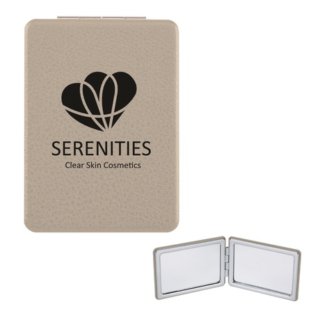 Imprinted Vanity Mirror With Dual Magnification