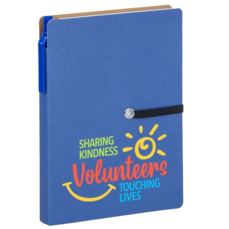 Volunteer Gift Jotter with Sticky Notes & Pen