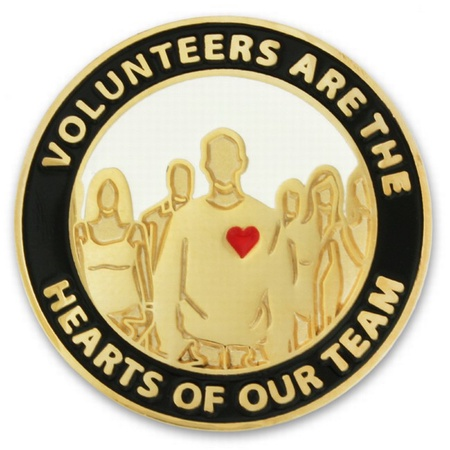 Volunteers Are Hearts of Our Team Pins