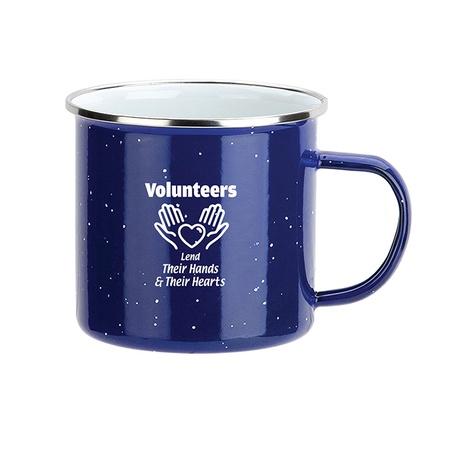 Volunteers Enamel-Lined Iron Coffee Mugs