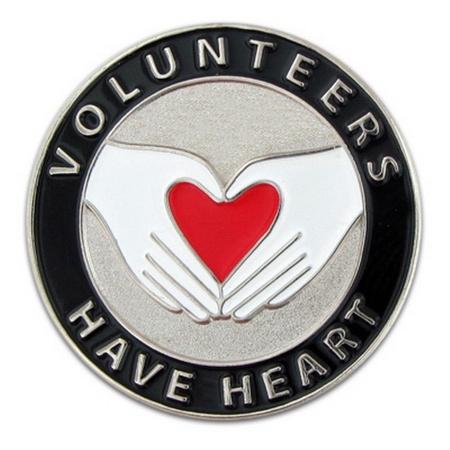 Volunteers Have Heart Lapel Pin