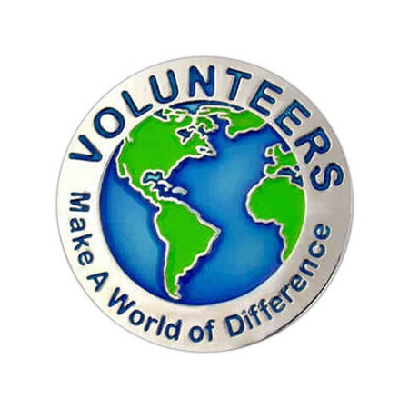 Volunteers Make a World of Difference Lapel Pin