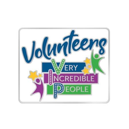 Volunteers Very Incredible People Lapel Pin