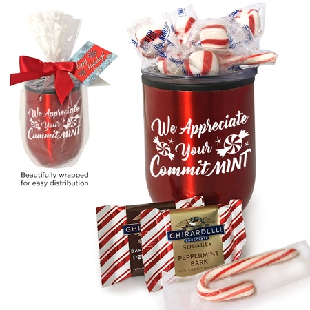 We Appreciate Your Committ-MINT Wine Tumbler Peppermint Gift Sets