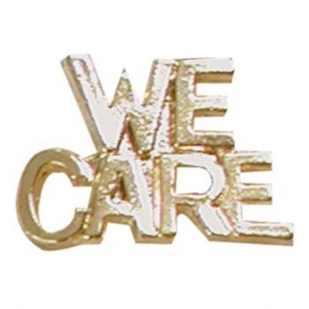 We Care Lapel Pin
