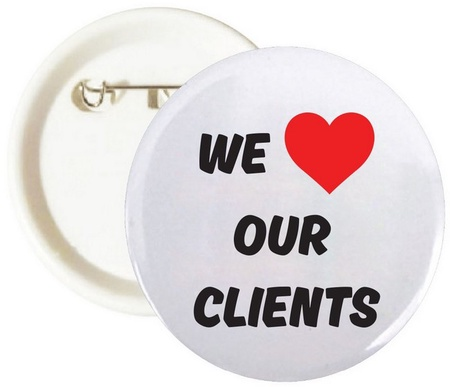 We Love Our Clients Buttons