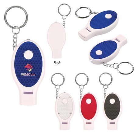 Custom Whistle Key Chain With Light