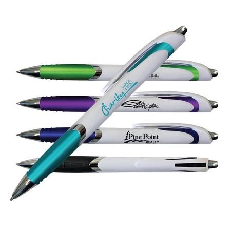White Crest Custom Grip Pens