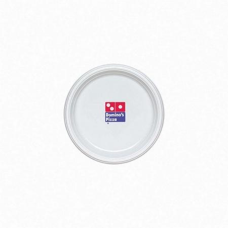 Custom Printed White Plastic Plates