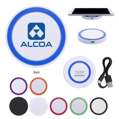 Imprinted Wireless Phone Device Charging Pads