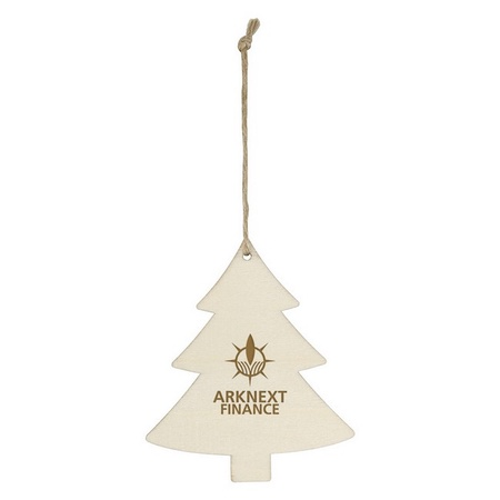 Wood Holiday Tree Ornament