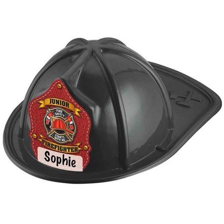 Write-In Jr. Firefighter Black Plastic Hats