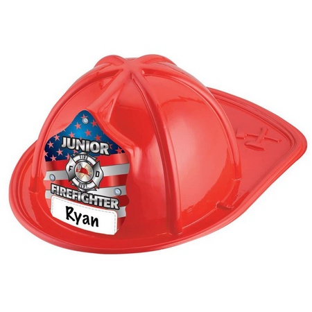 Write-In Jr. Firefighter Red Plastic Hats